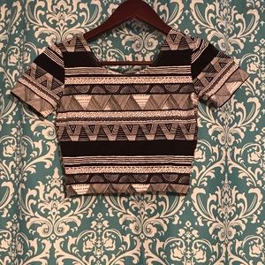 American Apparel tribal crop top